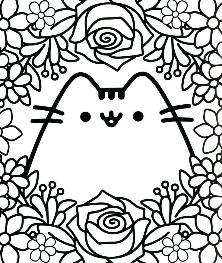 kawaii coloring pages pusheen coloring pages cat coloring