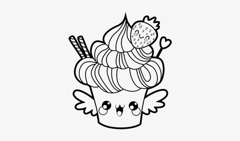 kawaii food coloring pages cupcake kawaii free