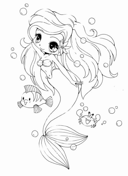 kawaii girl coloring pages