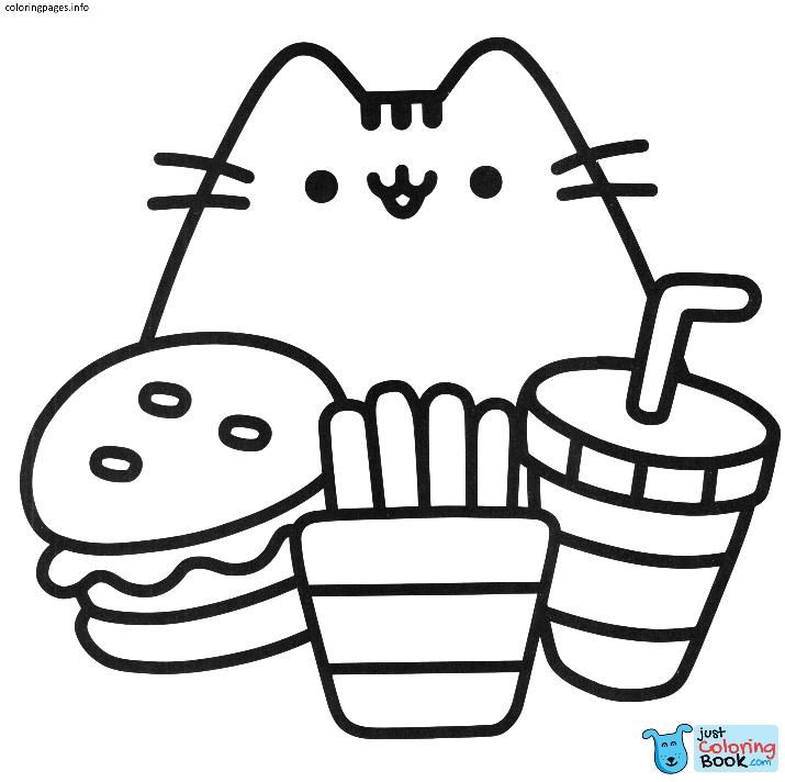 kawaii pusheen cat coloring pages coloring pages pusheen
