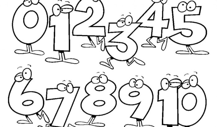 kids coloring pages numbers