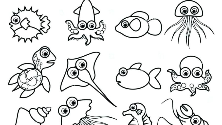 kids coloring pages sea animals