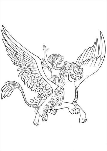 kids n fun 44 coloring pages of elena of avalor