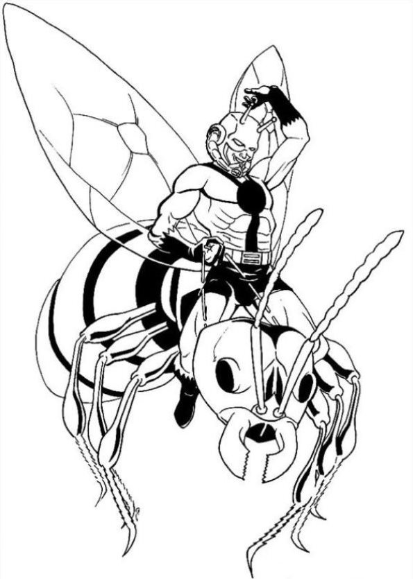 kids n fun coloring page ant man ant man