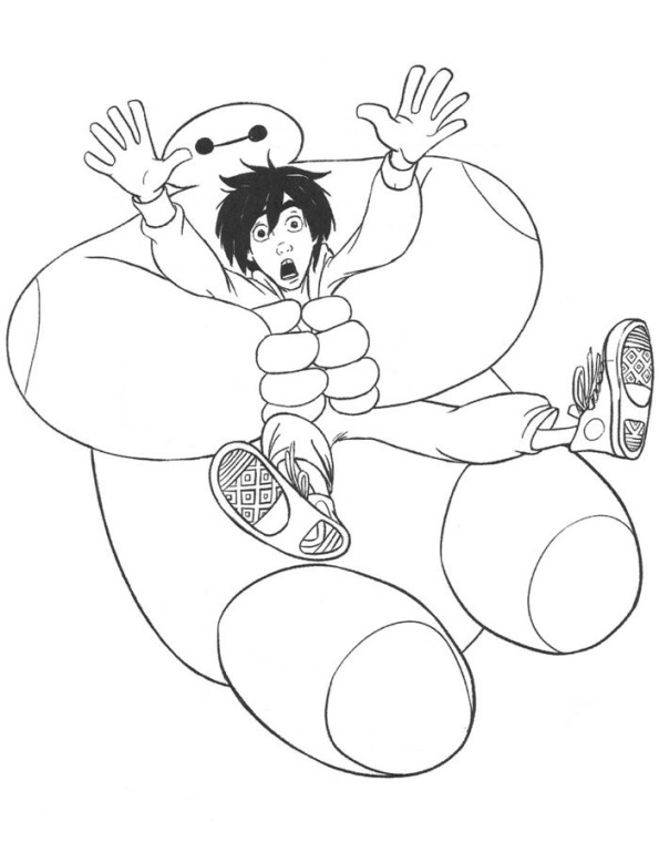 kids n fun coloring page big hero 6 baymax hero