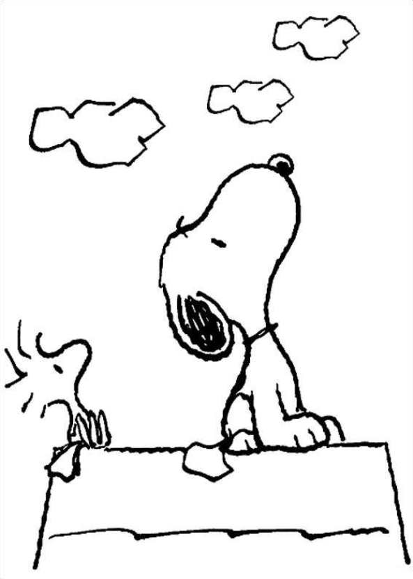 kids n fun coloring page charlie brown peanuts snoopy