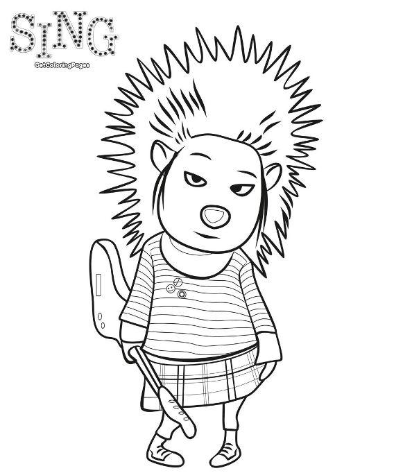 kids n fun coloring page sing ash