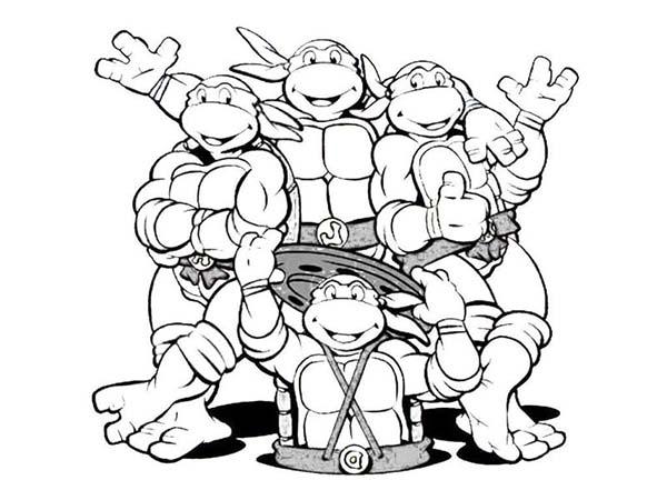 kids teenage mutant ninja turtles coloring pages 6868