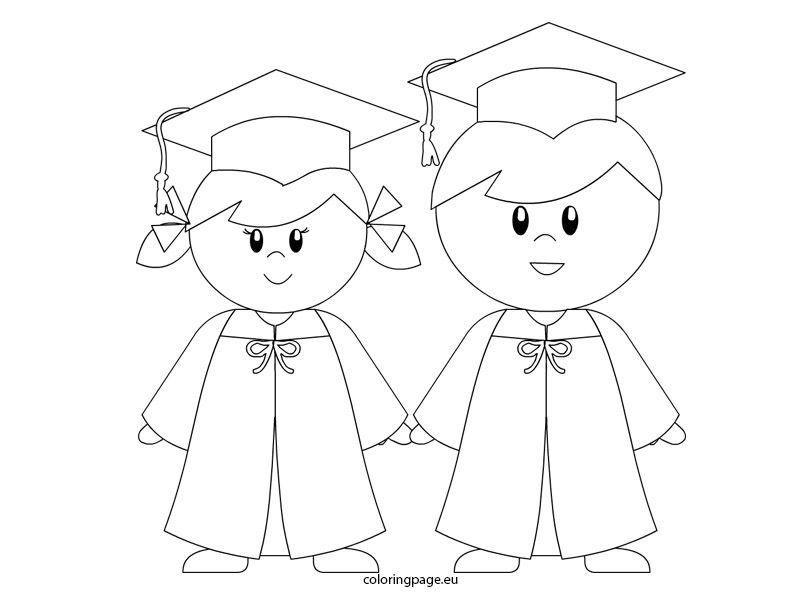 kindergarten graduation coloring page for preschool