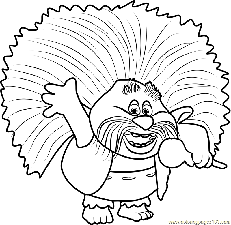 king peppy from trolls coloring page free trolls coloring