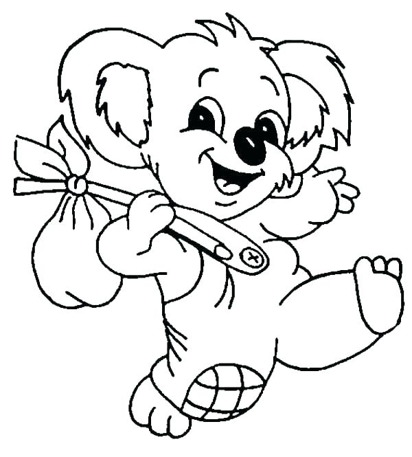 koala coloring page bear pages the adventure of koalas color