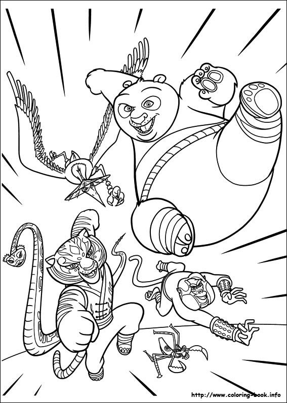 kung fu panda 2 coloring picture panda coloring pages