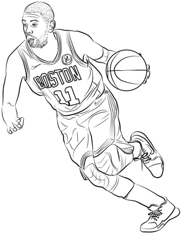 kyrie irving coloring page free printable coloring pages