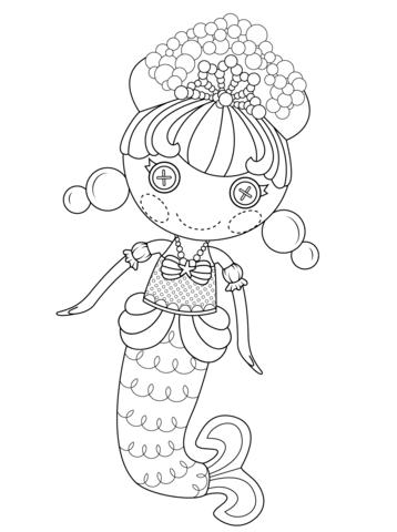 lalaloopsy bubbly mermaid coloring page free printable