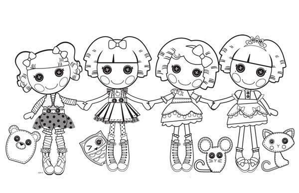 lalaloopsy lalaloopsy characters coloring page