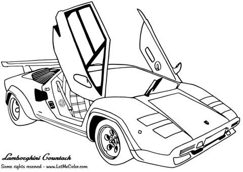 lamborghini countach coloring page free printable coloring