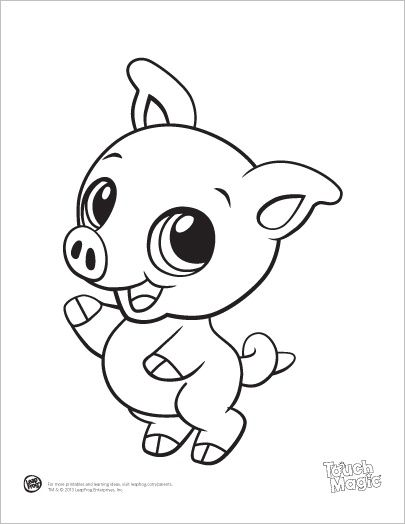 leapfrog printable ba animal coloring pages pig