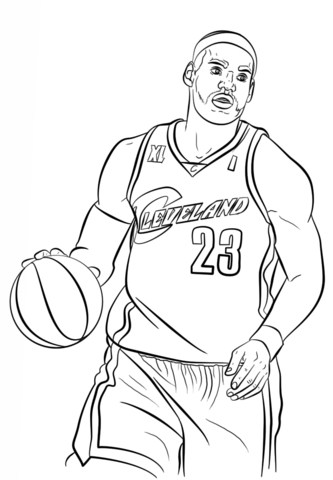 lebron james coloring page free printable coloring pages