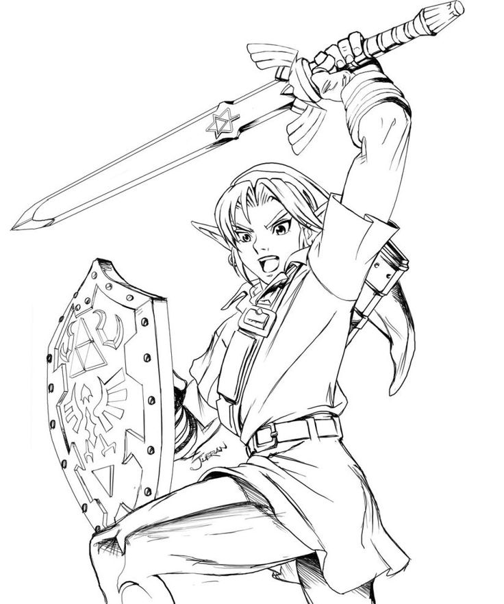 legend of zelda coloring pages to print