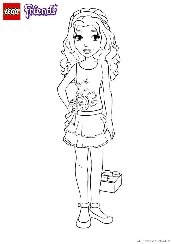 lego friends coloring pages emma coloring4free