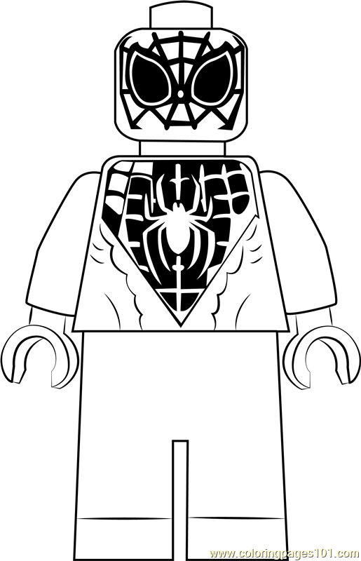 lego miles morales coloring page free lego coloring pages