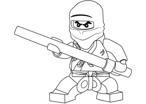 lego ninjago cole the black ninja coloring page free