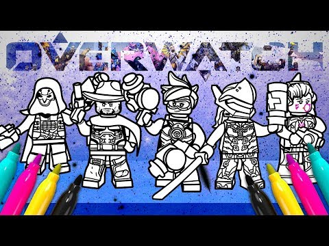 lego overwatch coloring set genji tracer dva reaper