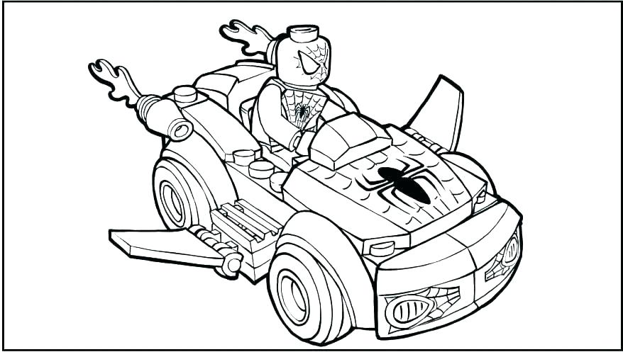 lego spiderman coloring pages to print at getdrawings