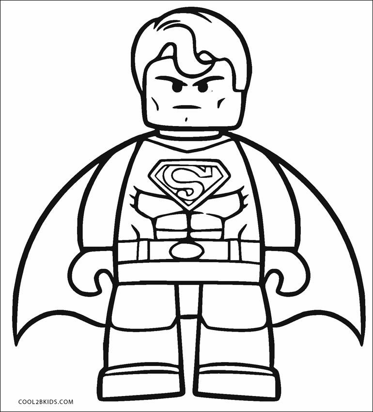 lego superman coloring page unique photos free printable
