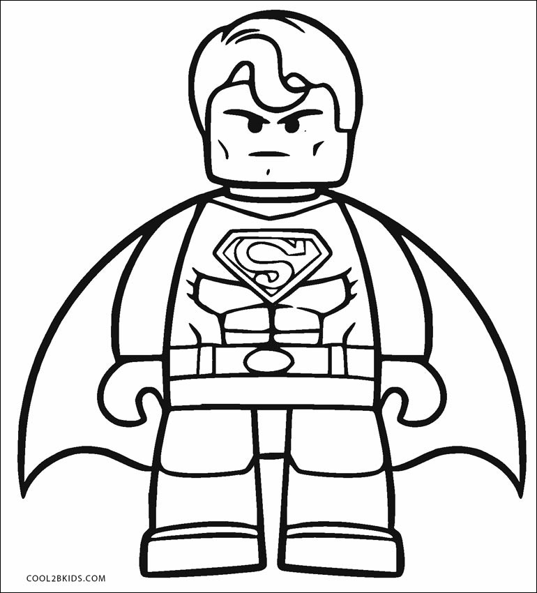 lego superman coloring page unique photos free printable
