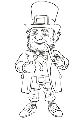 leprechaun coloring page free printable coloring pages