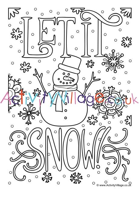let it snow colouring page coloring pages free coloring