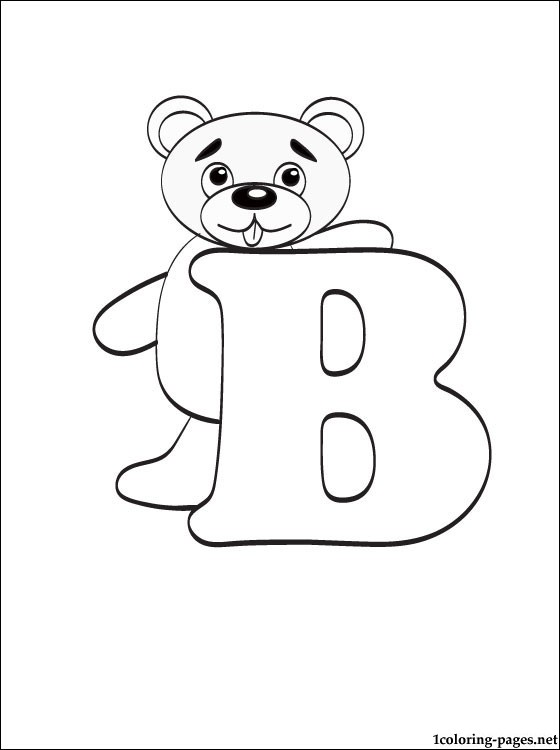 letter b coloring page coloring pages