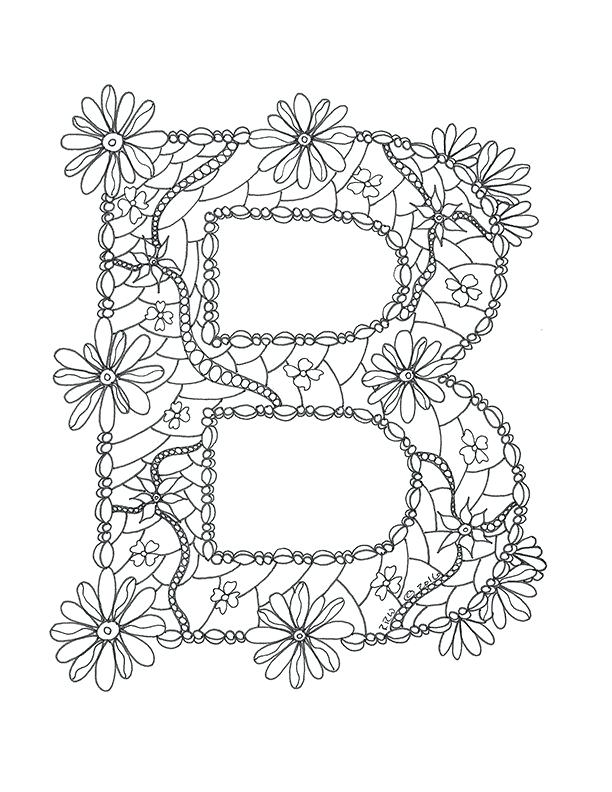 letter b coloring skincareanswers
