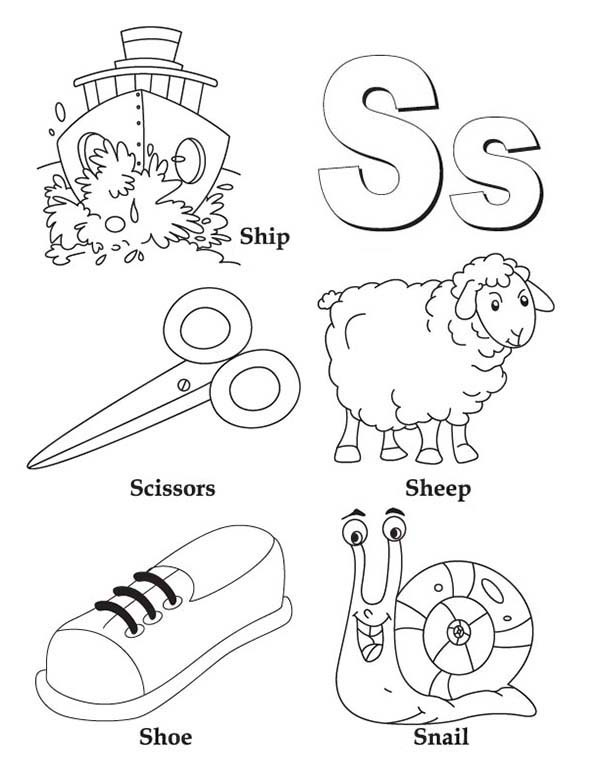 letter s coloring pages preschool