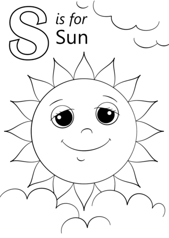 letter s is for sun coloring page free printable coloring