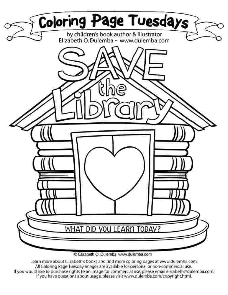 library coloring pages for preschoolers library coloring