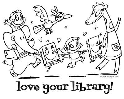 library coloring pages library orientation library week