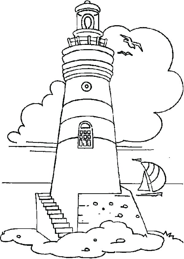lighthouse coloring pages printable at getdrawings
