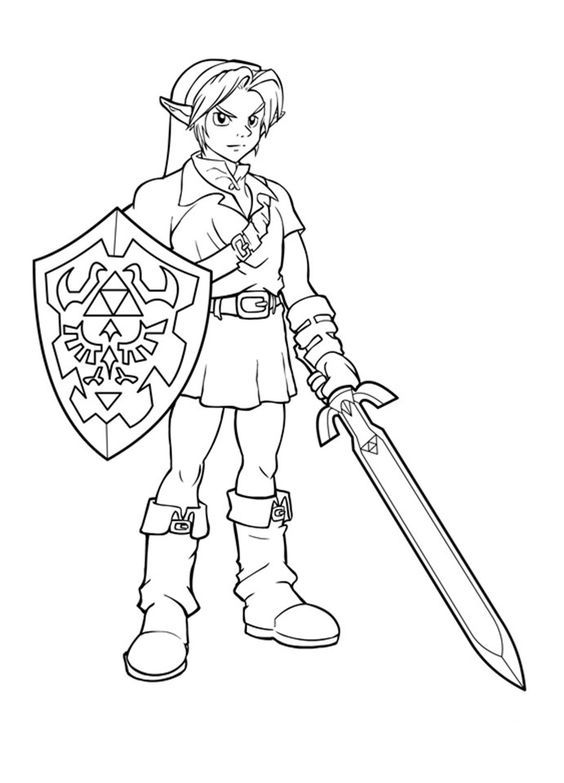 link coloring pages zelda free printable zelda coloring