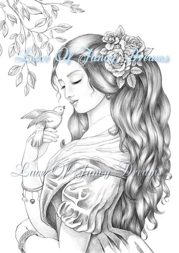 little dove coloring pages for adults pretty girl coloring sheet download printable coloring page pdf coloring for adults woman coloring