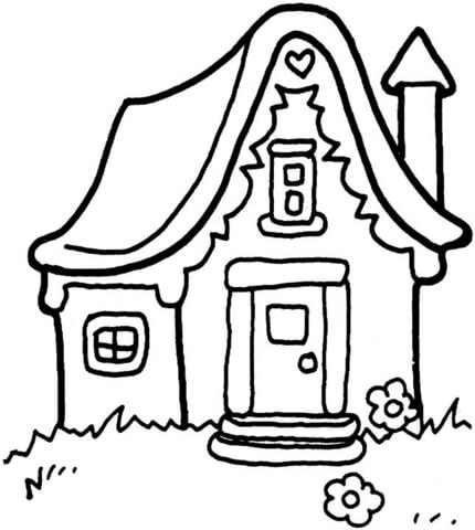 little house coloring page free printable coloring pages