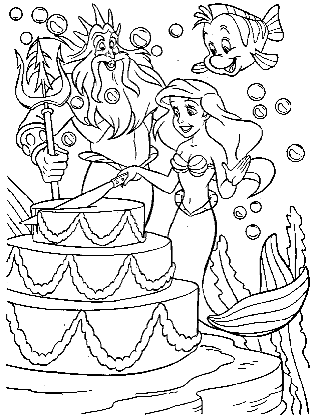 little mermaid coloring page coloring page book