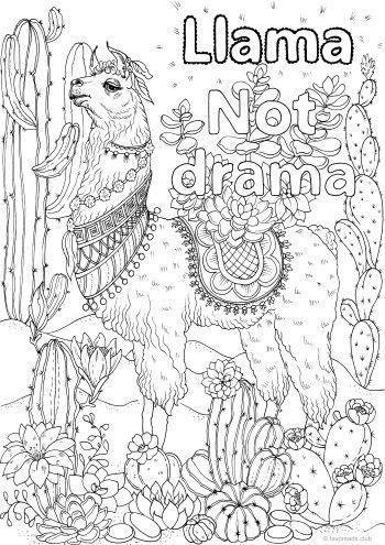 llama not drama ausmalbilder malvorlagen und ausmalen
