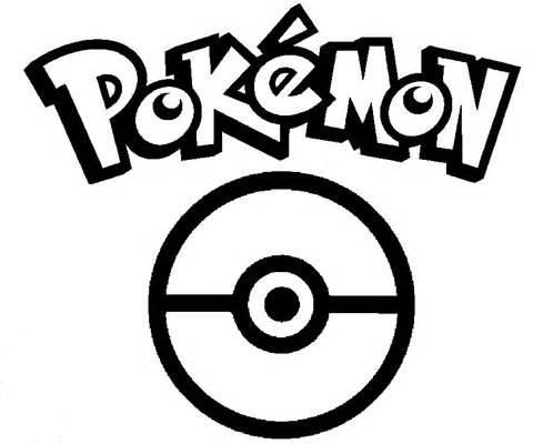 logo of pokemon and pokeball coloring page free printable