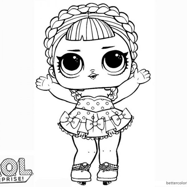 lol surprise doll coloring pages ice sk8er coloring pages