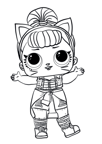 lol surprise doll troublemaker coloring page free
