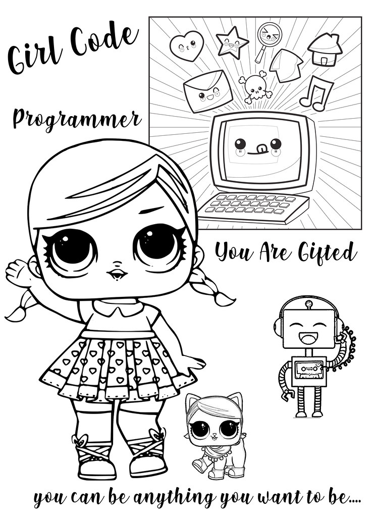 lol surprise dolls coloring pages flickr