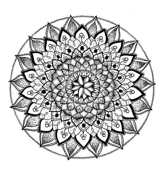 lotus flower mandala adult coloring sheet black and white mandala adult coloring page mandala coloring page