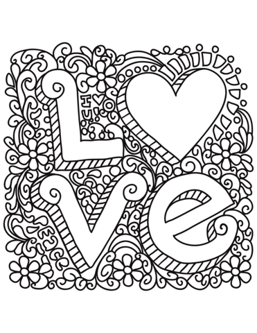 love coloring page free printable coloring pages